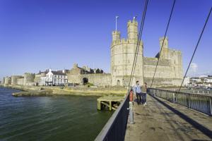 River Seiont Caernarfon River seiont, bridge and caernarfon castle